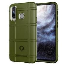 Schokbestendige Protector Cover volledige siliconen beschermhoes voor Galaxy A8s(Army Green)