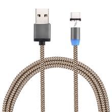 360 graden draaiend 1m golf stijl USB-C / Type-C naar USB 2.0 sterke magnetische Lader Kabel met LED-Indicator  Voor Samsung Galaxy S8 & S8 PLUS / LG G6 / Huawei P10 & P10 Plus / Oneplus 5 / Xiaomi Mi6 & Max 2 / en andere Smartphones(Goud)