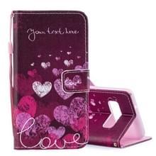 Brief en hart patroon horizontaal flip lederen Case voor Galaxy S10 PLUS  met houder & Card Slots & portefeuille