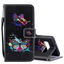 Gekleurde vlinder patroon horizontale Flip leren Case voor Galaxy S10 PLUS  met houder & kaartsleuven & portemonnee