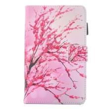 Voor Galaxy Tab E 8.0 / T377 Peach Blossom patroon horizontale Flip lederen draagtas met houder & kaartsleuven & stylushouder