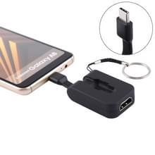 S-1615 4 K HDMI aan USB-C / Mini Type-C-Adapter met gesp  voor Galaxy S9 & S9 PLUS & S8 & S8 PLUS & Opmerking 8 / HTC 10 / Huawei Mate 10 & Mate 10 Pro & P20 & P20 Pro / MacBook 12 inch / MacBook Pro(Black)