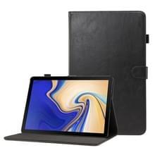 ENKAY Crazy Horse textuur horizontale Flip lederen Case voor Galaxy Tab S4 10.5 T830 / T835  met kaartsleuven & houder & slaap / Wake-up functie (zwart)