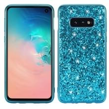 Glitter Powder Shockproof TPU Protective Case for Galaxy S10+ (Blue)