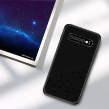 PINWUYO volledige waterdicht slagvast PC + TPU + PU Case voor Galaxy S10 PLUS (zwart)