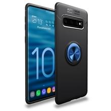 Lenuo schokbestendig TPU Case voor Galaxy S10 PLUS  met onzichtbare houder (zwart blauw)