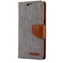 MERCURY GOOSPERY CANVAS dagboek voor Samsung Galaxy S7 Canvas textuur horizontale Flip lederen draagtas met kaartsleuven & portemonnee & Holder(Grey)