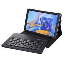 SA590 Bluetooth 3 0 Litchi textuur afneembare Bluetooth toetsenbord lederen draagtas voor Samsung Galaxy tab A 10 5 inch T590/T595  met houder (zwart)