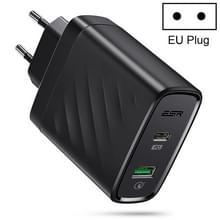 ESR 1PD + 1QC 36W plug reizen Wandlader adapter (EU-stekker)