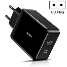 ESR 1PD + 1USB 30W plug reizen Wandlader adapter (EU-stekker)