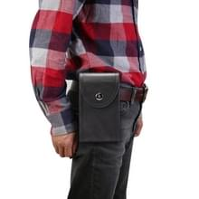 Double Case Multi-functionele Universal Mobile Phone Waist Bag Voor 6 5 inch of onder smartphones (Zwart)