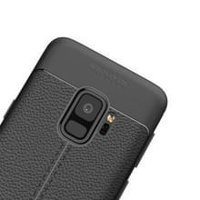 Voor Galaxy S9 Litchi textuur zachte TPU anti-skip beschermhoes Back Case  kleine hoeveelheden aanbevolen voor Galaxy S9 Launching(Black)