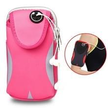 Multi-functionele sport armband waterdichte telefoon tas voor 5 inch scherm telefoon  maat: M (roze)