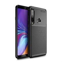 Carbon Fiber textuur schokbestendige TPU Case voor Galaxy A9s (zwart)