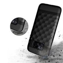 Voor Galaxy S8 3D Diamond TPU + PC beschermende combinatie Case (zilver)