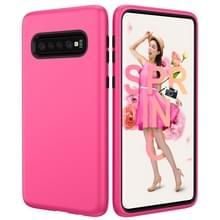 Effen kleur TPU + PC Protevtive Case voor Galaxy S10 (Rose-rood)