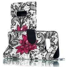 3D kant bloem patroon horizontale Flip PU lederen case voor Galaxy S10e  met houder & card slots & portemonnee & fotolijst