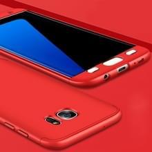 Samsung Galaxy S7 Edge volledig bedekkend Kunststof GKK back cover Hoesje (rood)