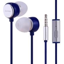 ALEXPRO E110i 1.2 m in-ear Bass stereo bedrade Control koptelefoon met mic  voor iPhone  iPad  Galaxy  Huawei  Xiaomi  LG  HTC en andere smartphones (blauw)