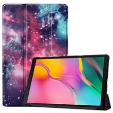 Custer Galaxy structuurpatroon gekleurde tekening horizontaal flip lederen Case voor Galaxy Tab een 10.1 2019  met drie-vouwen houder & slaap / Wake-up functie