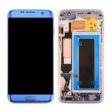 Originele LCD-scherm en Digitizer met Frame & opladen poort Board & Volume knop & / uit-knop voor Galaxy S7 Edge / G935A(Blue)