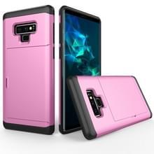 Schokbestendige ruige Armor beschermhoes voor Galaxy Note 9  met de kaart Slot(Pink)