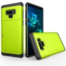 Schokbestendige ruige Armor beschermhoes voor Galaxy Note 9  met de kaart Slot(Green)