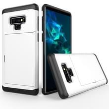 Schokbestendige ruige Armor beschermhoes voor Galaxy Note 9  met de kaart Slot(White)