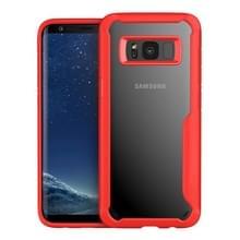 Galaxy S8 Back transparante PC + TPU volledige schokbestendige beschermende Case (rood)