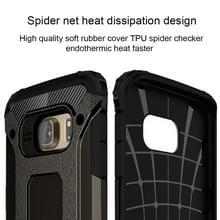 Voor Samsung Galaxy S6 Edge / G925 harde Armor TPU + PC combinatie hoesje (zwart)