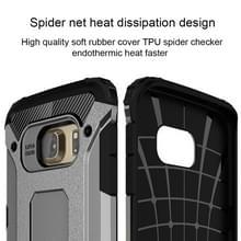 Voor Samsung Galaxy S6 Edge / G925 harde Armor TPU + PC combinatie hoesje (grijs)