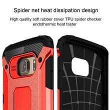 Voor Samsung Galaxy S6 Edge / G925 harde Armor TPU + PC combinatie hoesje (rood)