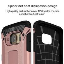 Voor Samsung Galaxy S6 Edge / G925 harde Armor TPU + PC combinatie hoesje (Rose Goud)