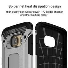 Voor Samsung Galaxy S6 Edge / G925 harde Armor TPU + PC combinatie hoesje (zilver)