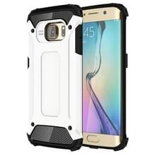 Voor Samsung Galaxy S6 Edge / G925 harde Armor TPU + PC combinatie hoesje wit