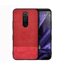 Schokbestendig splicing PU + doek beschermende case voor Sony Xperia 1 (rood)