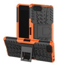 Tire Texture TPU + PC schokbestendig Case voor Sony Xperia XZ4 compact  met houder (Orange)