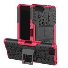 Tire Texture TPU + PC schokbestendig Case voor Sony Xperia XZ4 compact  met houder (roze)