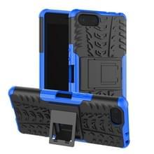 Tire Texture TPU + PC schokbestendig Case voor Sony Xperia XZ4 compact  met houder (blauw)