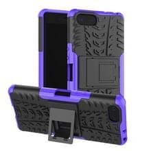 Tire Texture TPU + PC schokbestendig Case voor Sony Xperia XZ4 compact  met houder (paars)