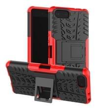 Tire Texture TPU + PC schokbestendig Case voor Sony Xperia XZ4 compact  met houder (rood)
