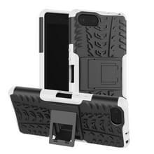 Tire Texture TPU + PC schokbestendig Case voor Sony Xperia XZ4 compact  met houder (wit)