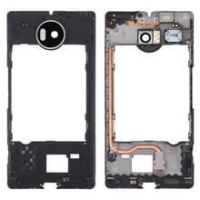 Middelste Frame omlijsting met zaklamp & spreker Ringer zoemer & trillende Motor voor Microsoft Lumia 950 XL(Black)