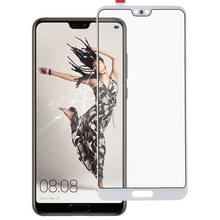 Voorkant scherm buitenste glazen lens voor Huawei P20 (wit)