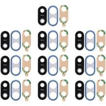 10 STKS terug camera bezel met lens cover & lijm voor Huawei P20 Lite (blauw)
