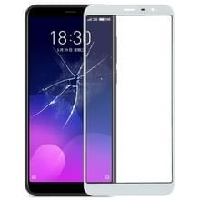 Voorkant scherm buitenste glazen lens voor Meizu M6T (wit)