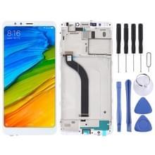 LCD-scherm en digitizer volledige assemblage met frame voor Xiaomi Redmi 5 (wit)