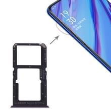 SIM-kaart lade + SIM-kaart/micro SD-kaart voor OPPO A9 (blauw)