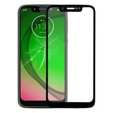 Front screen buitenste glazen lens voor Motorola Moto G7 spelen (zwart)