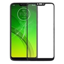 Front screen buitenste glazen lens voor Motorola Moto G7 Power (zwart)
